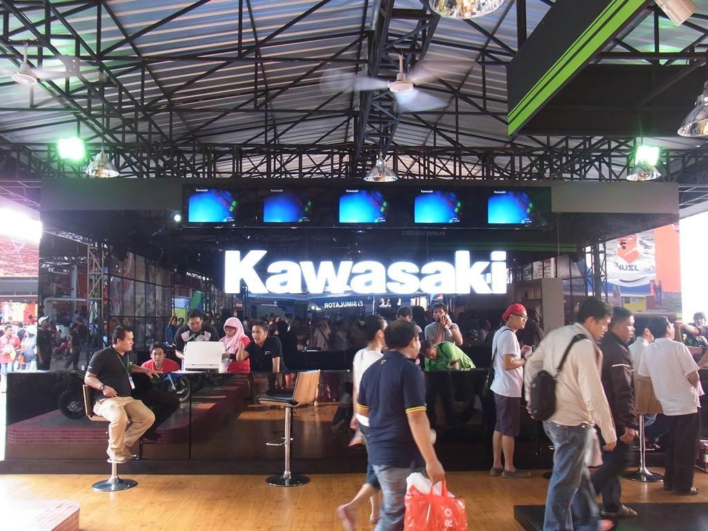ジャカルタフェスティバルにあった、kawasakiブース