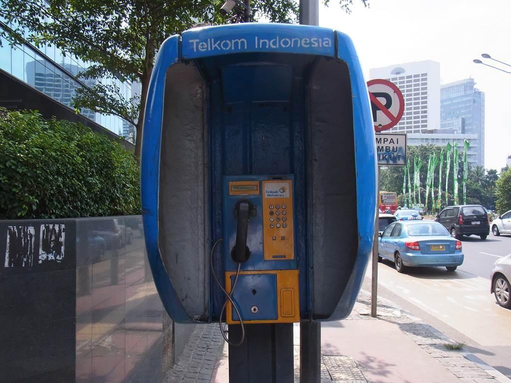 ジャカルタにある公衆電話
