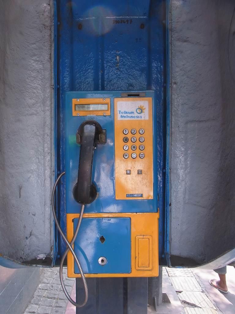 インドネシアの公衆電話