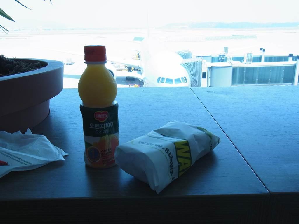 incheon air port で軽食