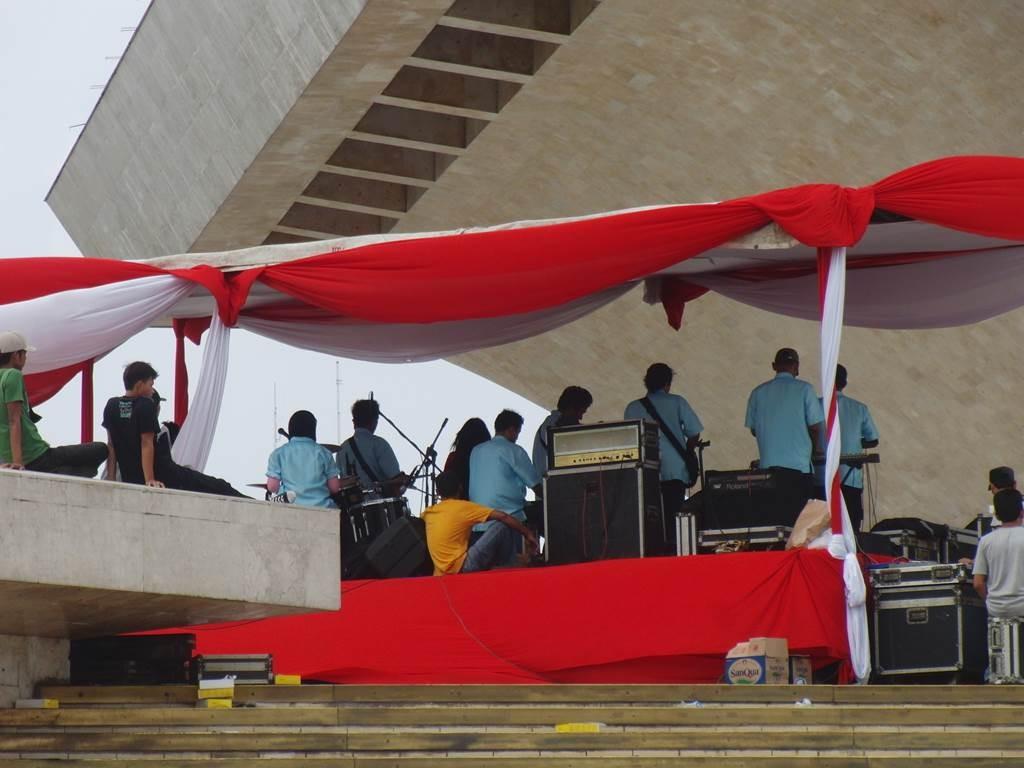 モナスでやっていた、dangdut(ダンドゥット)の会場