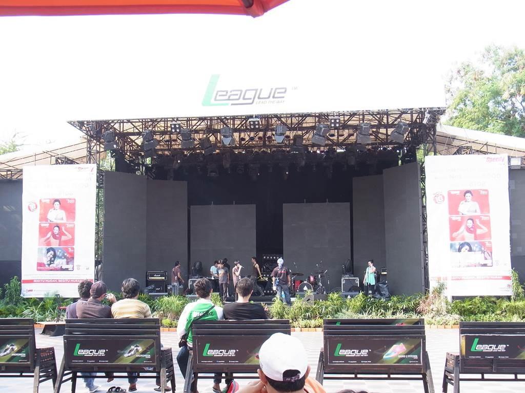 ジャカルタフェアの音楽ステージ