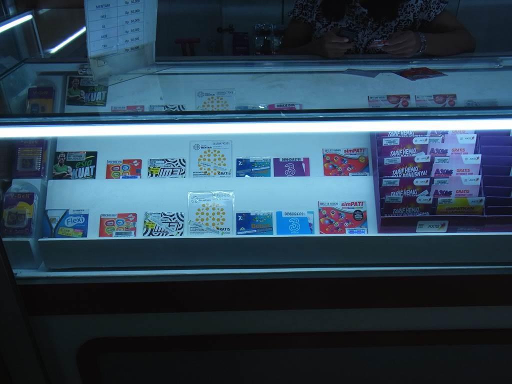 ジャカルタスカルノハッタのシムカード売り場