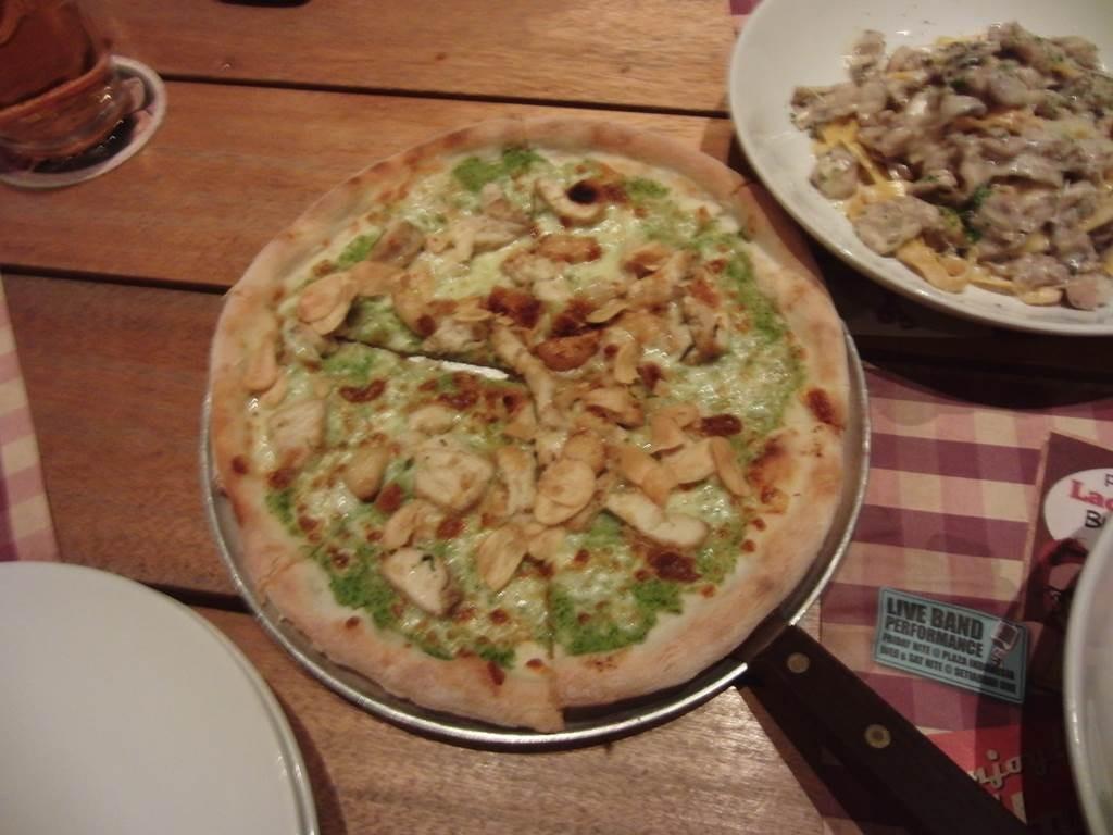 pizzaとビールも最高