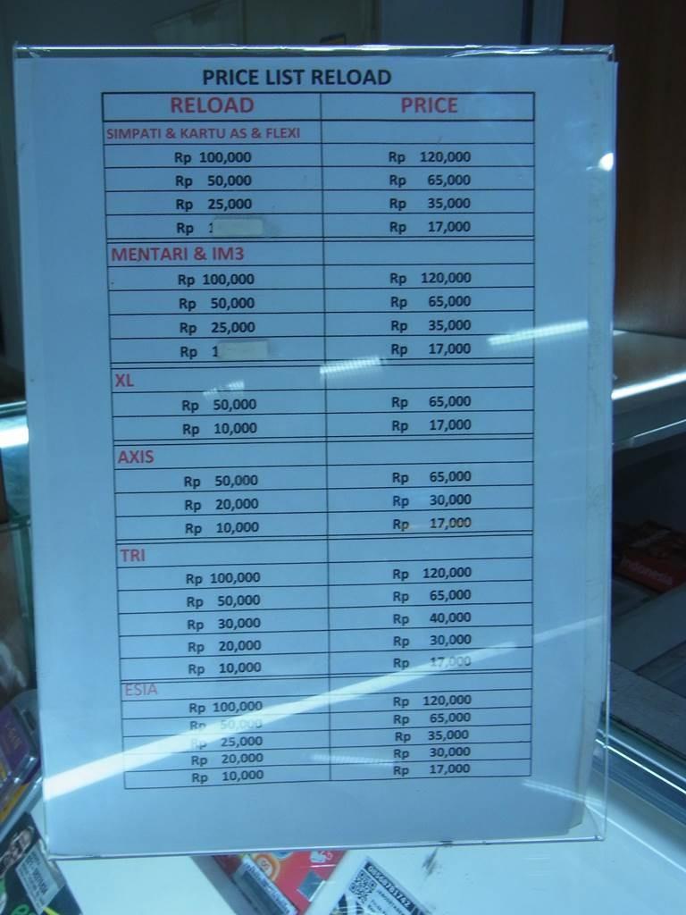ジャカルタの空港内の携帯ショップ