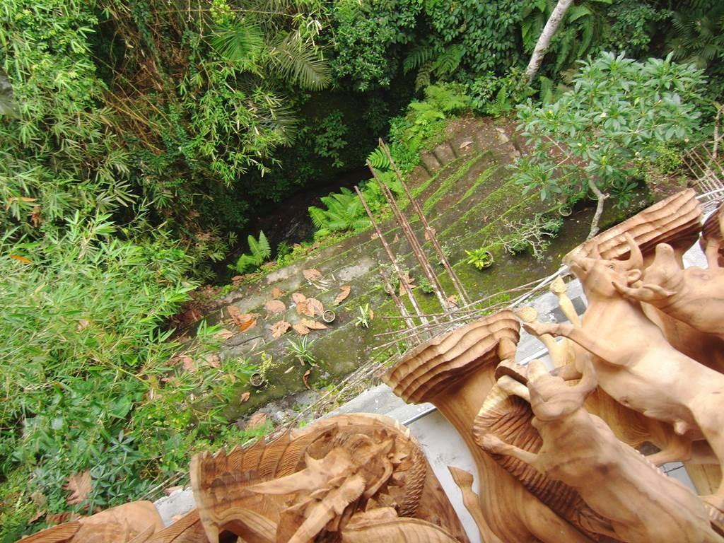 バリ島の木彫り屋さんの裏側