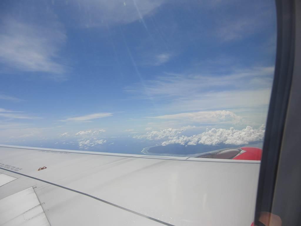 ジャワ島の上を飛んでいます。