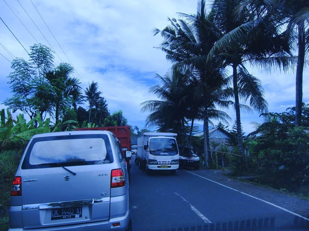 バリ島のい中の道路の様子