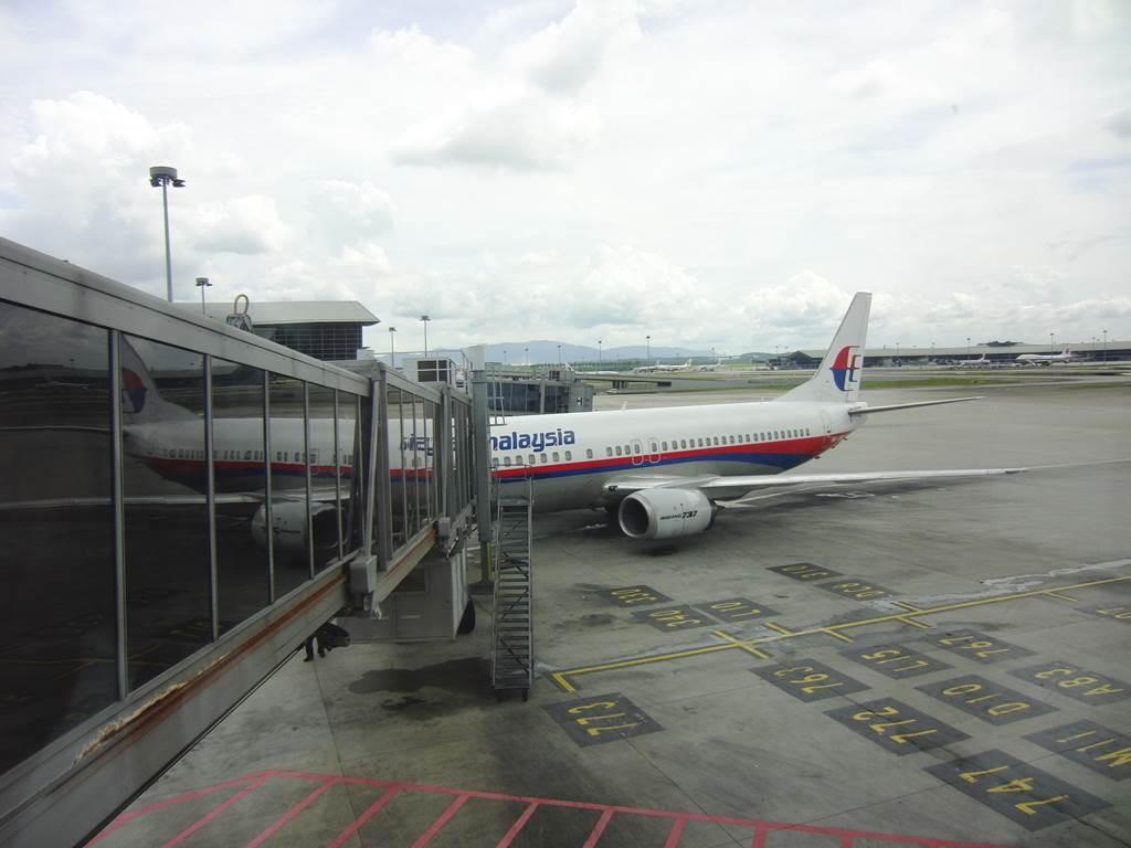 マレーシア航空でバリ島に到着
